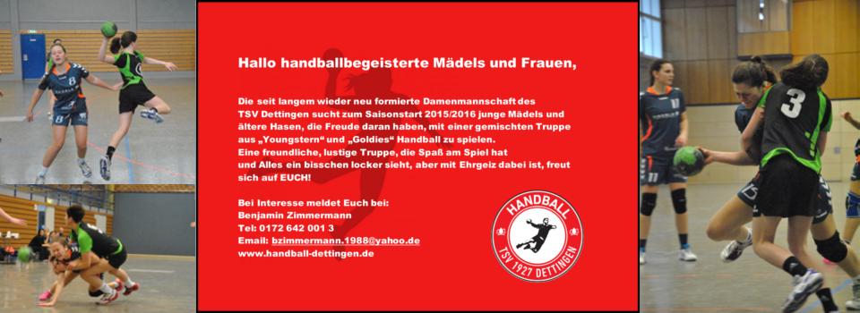 Damenmannschaft Saison 2015/16